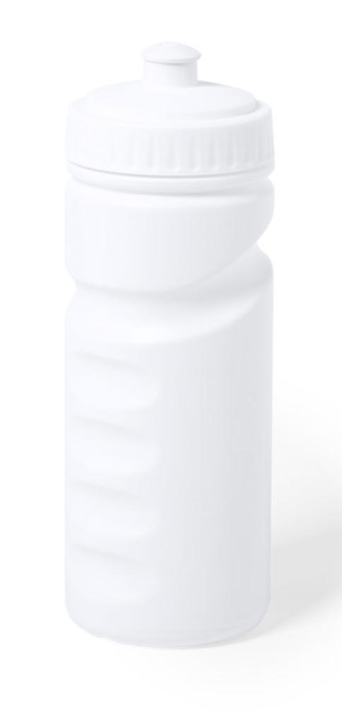 Garrafa antibacteriana em PE branco.